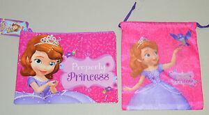 Disney Princesa Sofia Turnbeutel Sportbeutel Kulturtasche Kosmetiktasche NEU TOP