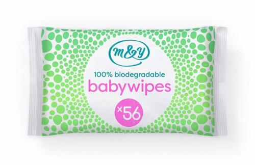Baby Wet Wipes Pack of 12, Mum /& You 100/% Biodegradable 672wipes