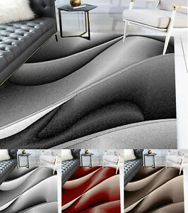 Details about Modern Rugs Extra-Large Living Room Vegas Wave Pattern Small  Bedroom Rug Carpets