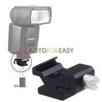 "Metal Hot Shoe Flash Light to Bracket Stand Mount Adapter w 1/4""-20 Tripod Screw"