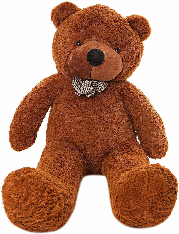 Teddybär MyTeddyWelt XXL Stofftier 140 cm Plüschbär Kuschelbär groß dunkelbraun