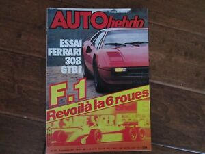 Auto-View-Auto-Hebdo-French-Magazine-1981-Ferrari-308-GTBI-Test-Drive-F1-Can-AM