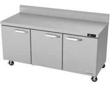 Blue Air 3 Door Commercial 72 Undercounter Worktop Refrigerator Blur72 Wt Hc