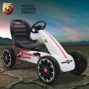 image is loading kids childs licensed abarth pedal go kart children