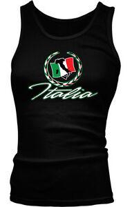 Italia Italian Crest Country European Pride Green White Red Boy Beater Tank Top