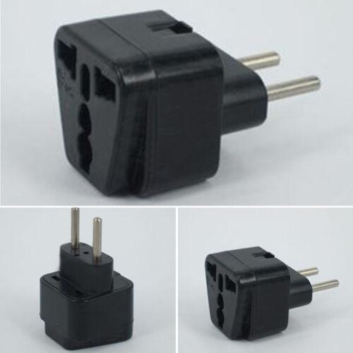 Portable Plug Adapter ABS+Steel UK CN US Brazil Plug Via to EU Plug 220V New