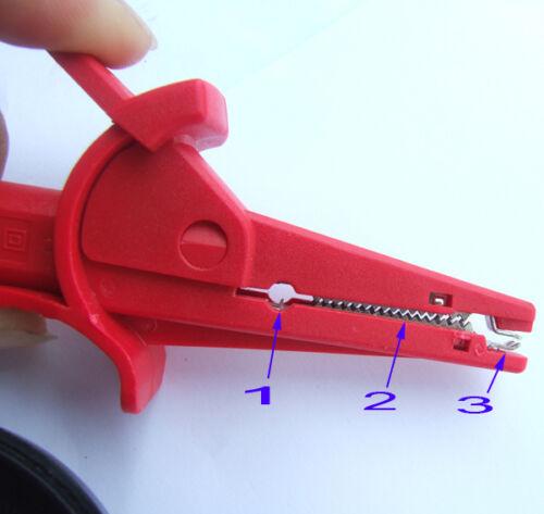 10PCS 5 colors 1000V 10A HV test Alligator clip for BANANA Multimeter pen probes
