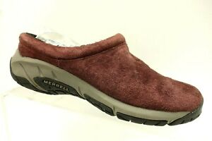 Merrell-Bourbon-Brown-Leather-Casual-Slip-On-Walking-Loafers-Shoes-Women-039-s-6-5