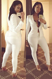 New Fashioncelebrity Women Blazer Set White Suit With