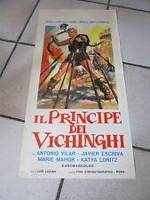 LOCANDINA, 1963, IL PRINCIPE DEI VICHINGHI ANTONIO VILAR LUCIAN ESCRIVA