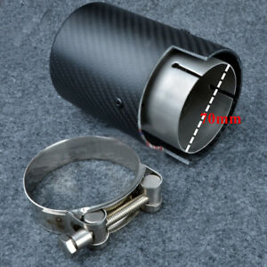 70mm inlet 90mm outlet Carbon Fiber Exhaust Tube Exhaust Tip