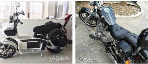 2 Pcs Universal Mini Size Motorcycle Durable PU Leather Side Saddle Luggage Bags