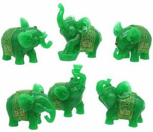 2196.50 Ct Gold Painted Elephant Living Room Decor Dark Green Statue Jade Elephant Jade Gemstone Statue Natural Green Jade