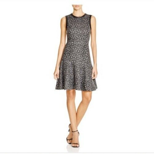 Nuevo con etiquetas Rebecca Taylor Fit & Flare  Vestido Talla  6 material de franela de encaje tapicería de cuero  gran venta