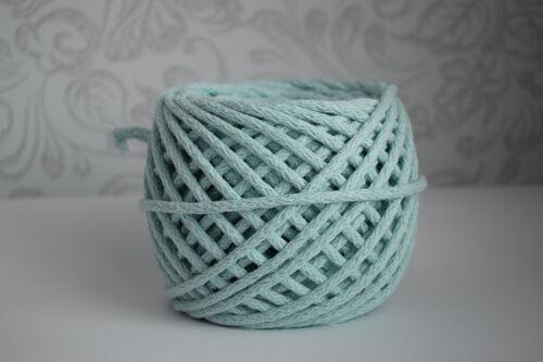 cotton knitting yarn 5mm cord rope zpaghetti zpagetti crochet makrame 200m