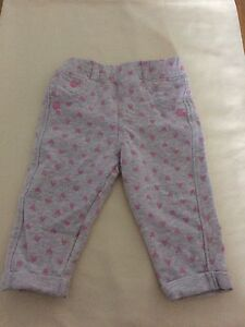 Mothercare-Baby-Girl-Light-Grey-With-Pink-Hearts-Bottom-3-6-Months-New