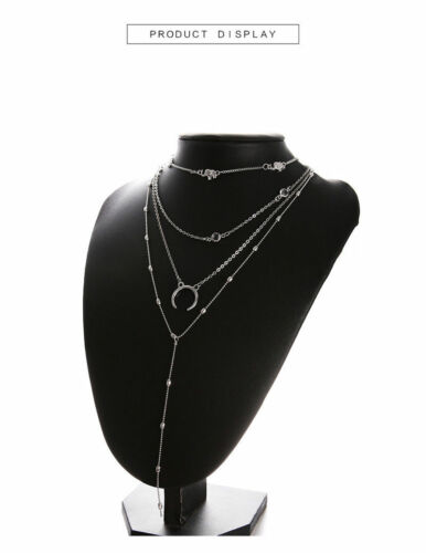 Vintage Women/'s Multilayer Clavicle Necklace Pendant Charm Choker Chain Jewelry