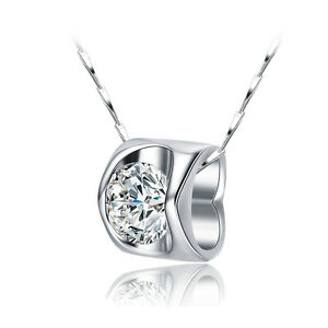 Halskette-925er-Sterling-Silber-Swarovski-Elements-Anhaenger-Zirkonia-rhodiniert