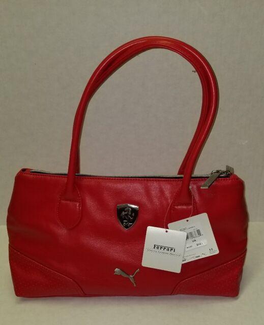New Puma Scuderia Ferrari LS Women Red Handbag Small Satchel 89213902 32d23bd6ce84f