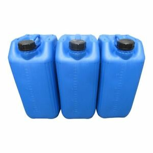 hogred 3 x 25 litre water carrier home camping stackable approved 70 mm neck anti glug /…