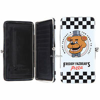 Five Nights At Freddy's Freddy Fazbear Pizza Kisslock Hinge Wallet Clutch Tote