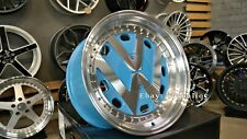 New 17 Inch 5x112 Deep Dish Wheels For Vw Golf Caddy Jetta Lupo Jdm Rr Style