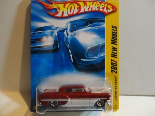 2007 Hot Wheels #34 Red Custom '53 Chevy w/5 Spoke Wheels