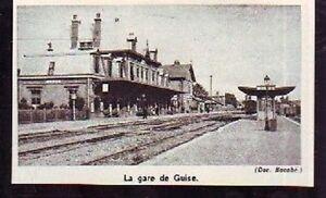 1973 -- VIEILLE GARE DE GUISE K199 - France - 1973 -- VIEILLE GARE DE GUISE il ne s'agit pas d'une carte postale , mais d'un beau document paru dans la rare VIE DU RAIL en 1973 le document GARANTI D'EPOQUE est en tres bon état et présenté sur carton d'encadrement format 100 X 65 mm FRAIS  - France