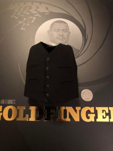 Big Chief Studios James Bond Goldfinger Oddjob Black Waistcoat loose 1//6th scale