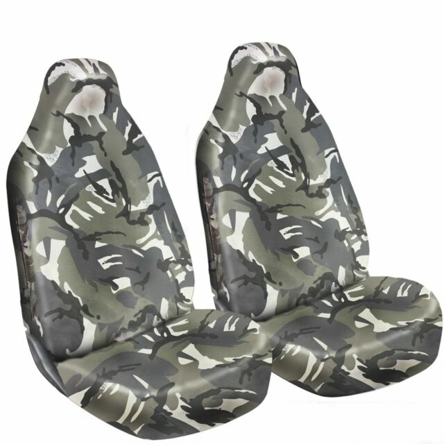 Heavy Duty 100% Waterproof Grey Camo Car Van Seat Covers 1+1 nylon