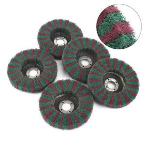 2//5//10Pcs 180Grit 115mm Nylon Fiber Buffing Wheel Abrasive Polsihing Disc Pad