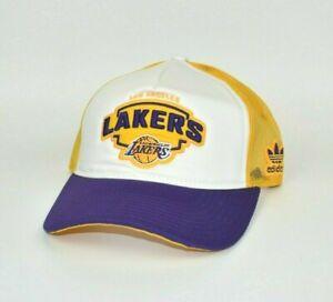 Los-Angeles-Lakers-adidas-NBA-Men-039-s-Adjustable-Mesh-Back-Snapback-Cap-Hat