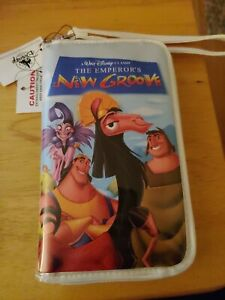 Disney-Parks-The-Emperor-039-s-new-Groove-VHS-Zipper-Wallet-Wristlet-Clutch-Purse