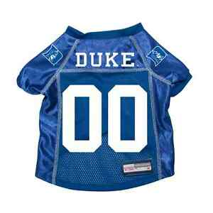 DUKE-BLUE-DEVILS-DOG-PET-PREMIUM-JERSEY-w-NAME-TAG-EXTRA-SMALL-XS-LICENSED