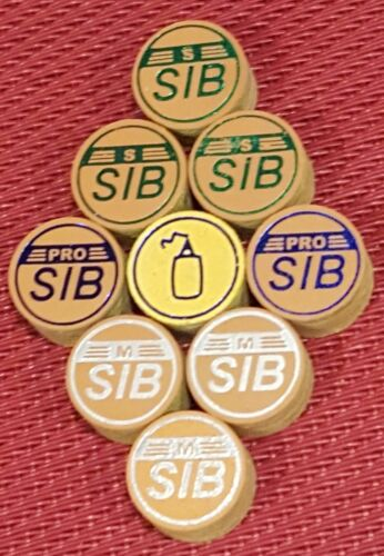 best for cue lathe installation. SIB premium Layered Cue Tips 14MM 3 soft