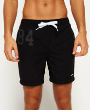 New Mens Superdry Premium Water Polo Shorts Black