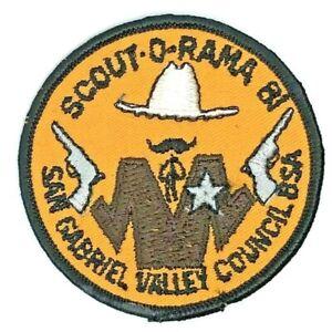1981-San-Gabriel-Valley-Council-Scout-O-Rama-Patch