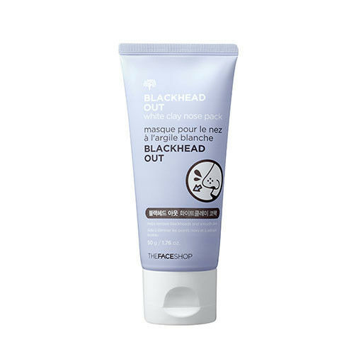 [THE FACE SHOP]  Blackhead Out White Clay Nose Pack 50g / Peeloff type