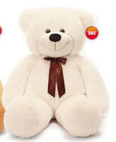 1.2m Tall Lovely Teddy Bear Stuffed Plush Doll Birthday Christmas Gift White