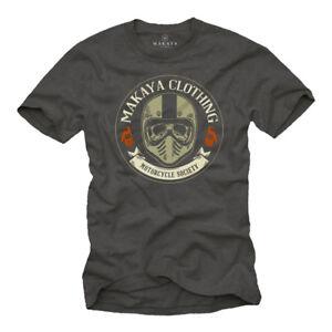 MOTO-T-shirt-con-MOTOCROSS-SKULL-UOMINI-TESCHIO-CASCO-Biker-shirt
