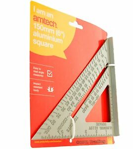 """6"""" Roofing Rafter Speed Try Square Alloy Angle Guide Tool Ruler Triangle Measure"""