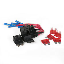 HS 5x10A Add Circuit Standard Blade Fuse Boxe Holder ACU Piggy Back Tap US Stock