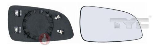 TyC vidrio pulido exterior izquierda 325-0060-1 calentado Opel