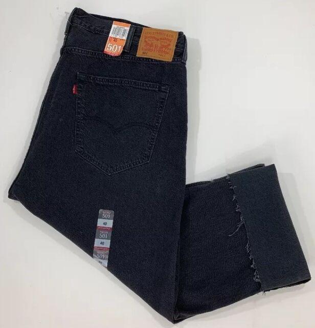 4ccaa07d71f Levis 501 Black Jeans 524360000 Pleated Crop Men's Denim Button Fly ...