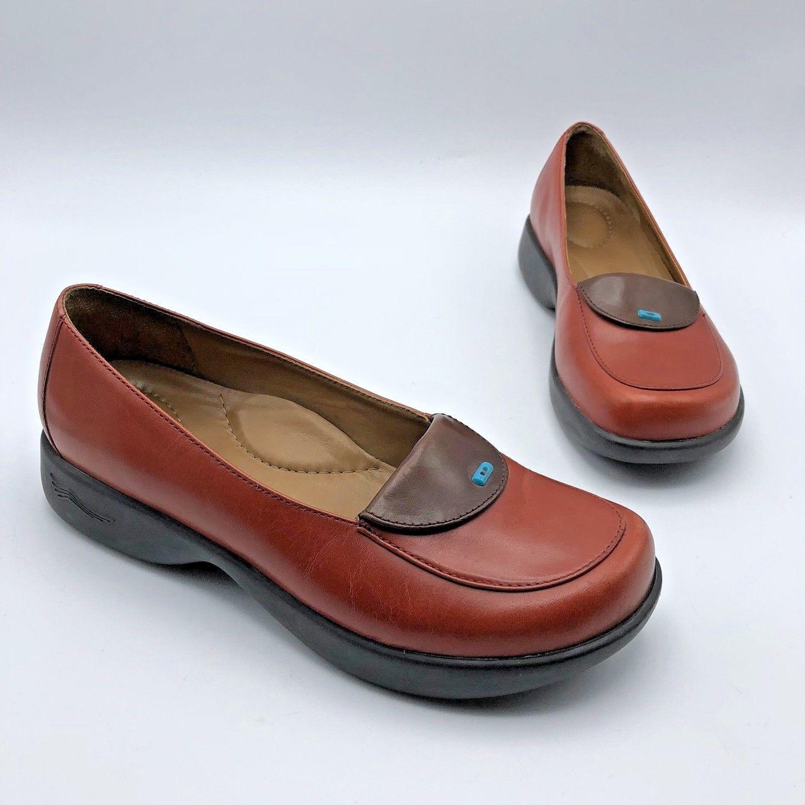 Dansko Desiree donna rosso Leather  Lofer Clog scarpe Dimensione 6.5M EUR 37  autorizzazione ufficiale