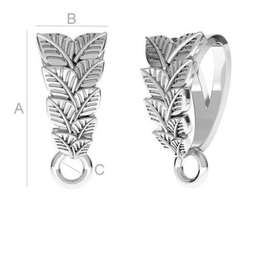 De alta calidad de hojas de Pellizco Fianza de plata esterlina 925 para cristales de Swarovski