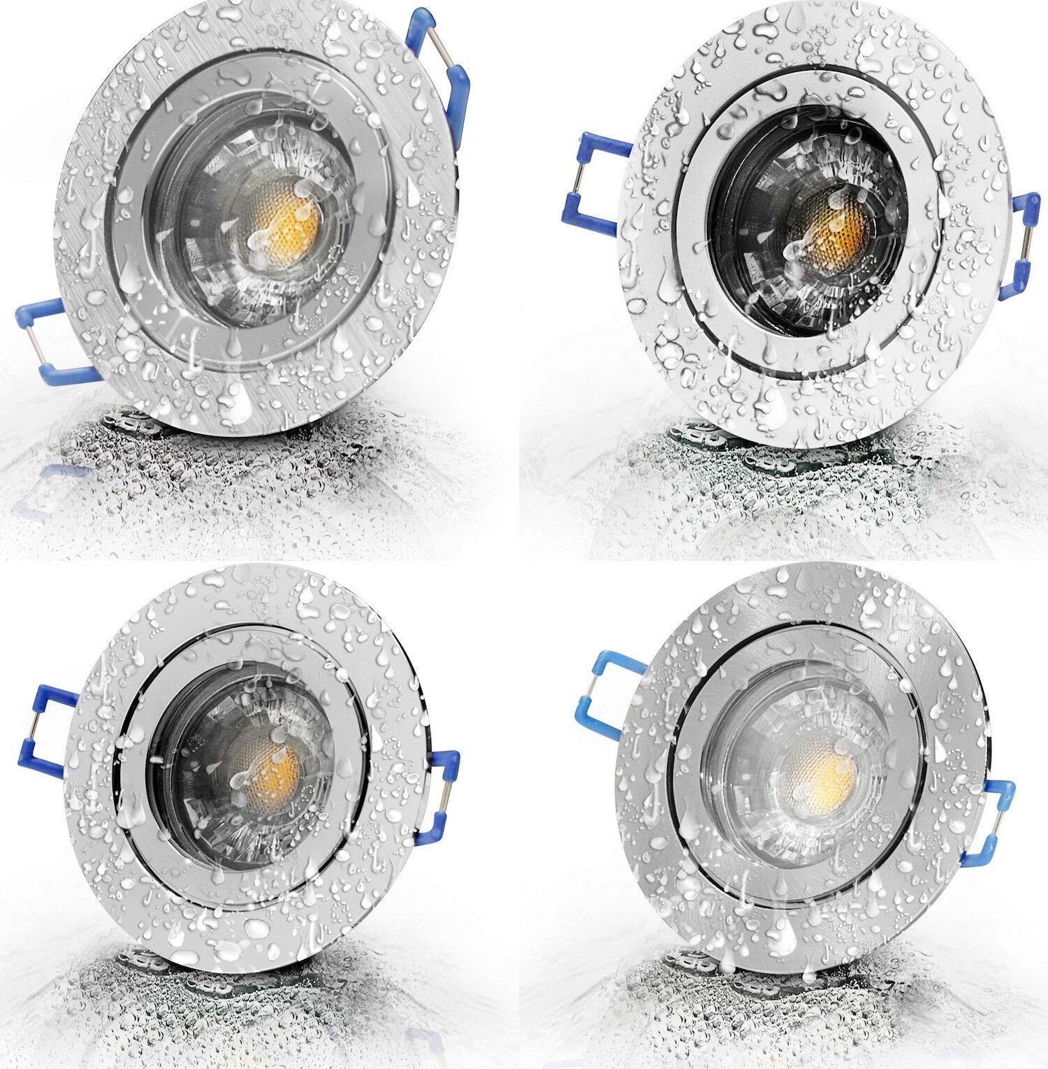 12Volt LED Bad Einbaulampen Sets   Gu 5.3   3W   IP44   Schutzglas   LED Treiber