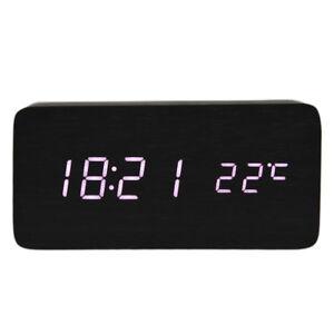 Voix-Thermometre-Calendrier-controlee-Reveil-en-bois-Horloge-LED-numerique-G4F1