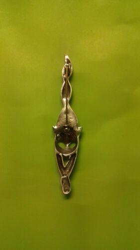 Broche chat métal argenté