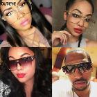 Square Flat Top Large Sunglasses Big Oversized Huge Gradient Frame Women Eyewear